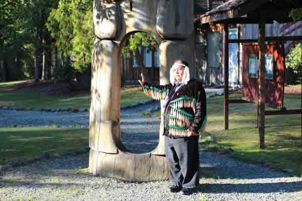 Cowichan Indian village